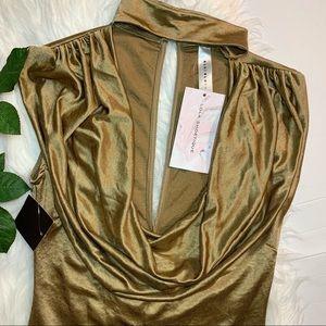 Lola Shoetique   Gold Dress-Shirt